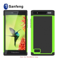 Factory Price Defender Cover 3 in 1 Protective PC + Silicone Front and Back Cover Case for BlackBerry Leap Z20