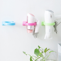 Convenient Design Useful Sticky Plastic PP Wall Mounted Hair Dryer Holder Rack