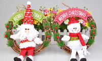 Cheap small plush santa claus stuffed christmas decoration toy for sale