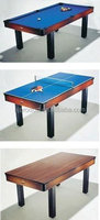 New Arrival house furniture Dinner table with Billiard and table tennis games, 3 in 1 Dinner Pool table