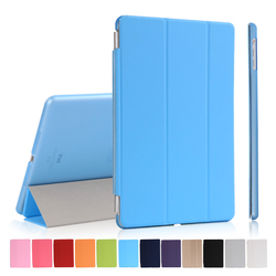 Factory Price Smart Tripled Folded Leather Flip Cover Case for iPad Air for Apple 5 Tablet