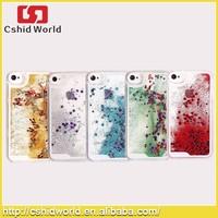 Transparent Plastic 3d Glitter Quicksand Stars Liquid Phone Case For Iphone4 4S