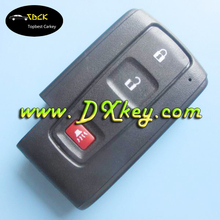Shock price 2+1 buttons remote key cover for toyota prius key without emergency key blade no logo