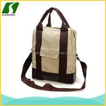 Wholesale durable promotional canvas long strap shoulder tote bags