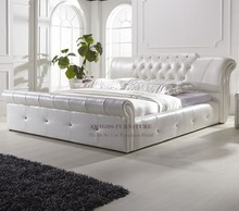 Furniture pakistan hot sex white leather bed fame king size bed