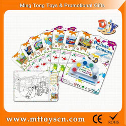 educational colorful painting toy for kid oil painting pictures of flowers