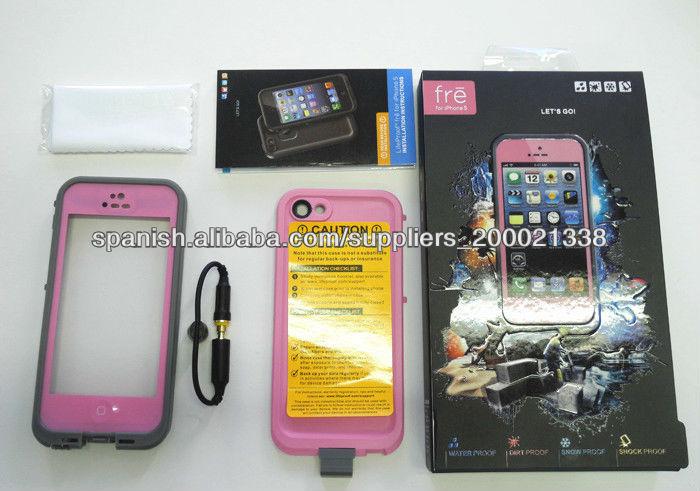 Funda para Iphone 5 resistente al agua, polvo, caidas, calor, playas de múltiples colores