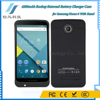 4200mAh Backup External Battery Charger Case for Samsung Nexus 6 With Stand