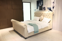 Modern french style upholstered queen size bed bedroom furniture