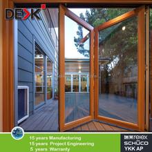 Customized aluminium bi-folding door, German hardwares high quality double glazing door
