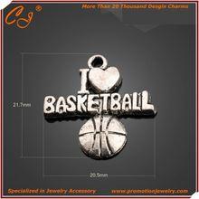 Over 20000 Designs Craft Necklace i love basketball charm Yiwu Zhejiang
