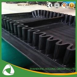 sidewall conveyor belt for cement conveyor equipment