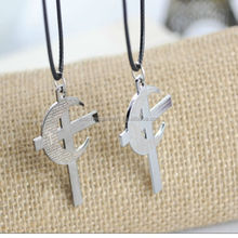 Manufactory of jewelry fashion silver cross necklace couple unique jewelry