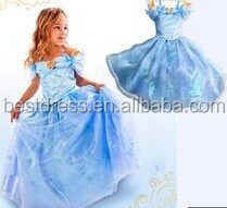 Wholesale 6 Styles Girl Dress Cinderella Costume Lace Tulle Princess Halloween Fancy Dress Costume For Kid