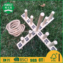 wooden ringtoss game set and wooden game