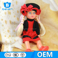 Wholesale fashionable 10 inch vinyl material babie doll for kids playing, American girl doll with clothes and hat