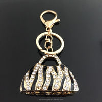 Luxury Crystal Handbag Purse Bag Pendant Charm, Bag Shaped Keychain