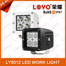 12w led working lamp Auxiliary Lamp For Truck,Atv,Farm Machinery, brightness 12w led bulb light off road driving light for Jeep