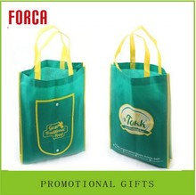 low price gift package Recycle hand luxury non-woven folding tote shopping bag