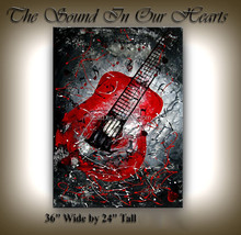 Musical instrument oil painting on canvas for home