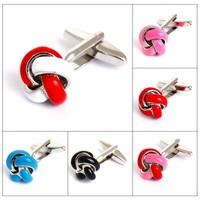 8 Color Cufflinks Knot Design Copper Material Men Cufflinks Wholesale&retail