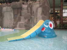 Best selling water spray fiberglass elephant slide for sale