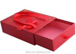 Red wedding candy box with handle,sweet candly wedding favour box