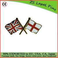 Custom top quality enamel Union Jack - England Flag Friendship Pin Badge