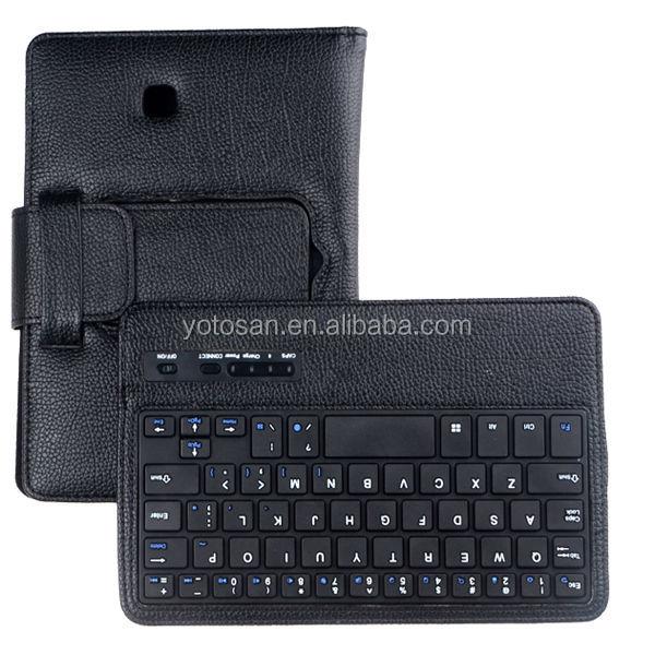 Bluetooth Detachable Keyboard Stand Case for Samsung Galaxy Tab 4 7.0 Inch