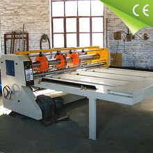 import and export carton box processing supplying machinery semi automatic slotting creasing and die cutting machine