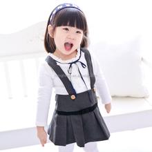 80103 kids clothing new model girl dress Spaghetti Strap clothing set