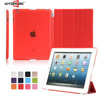 manufactory fabrication New arrival PU Leather dustproof case for iPad 2 3 4
