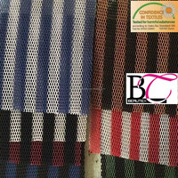 stripe color polyester warp knitted 3D air spacer mesh fabric for motorcycle seat cover