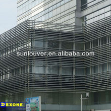 Aluminium profile box louver / shutter for building decoration.
