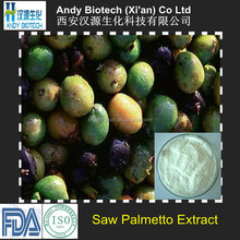 45% Total Fatty acids High Quality Saw Palmetto Dry Extract
