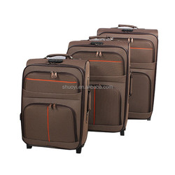 20''/24''/28'' cheap fabric soft travel luggage classic style suitcase for traveling