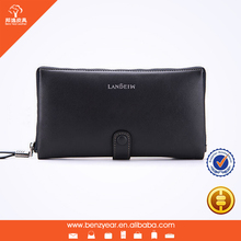 Smooth Soft Genuine Leather Men's Design with Phone Sets Wholesale Clutch Bags China
