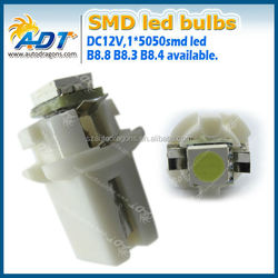 B8.3 White Lights 5050 SMD LED Light BAX10S Dash Board Instrument Panel bulb 12V Auto Parts