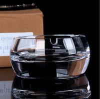 wholesale cheap k9 crystal ashtray clear glass ash bin small smoking tank