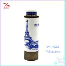 European Style Ceramic Craft Gift Monocular Telescope 9X32