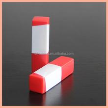 LS0234 Red plus white plastic lipstick tube