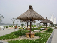 Fireproof Artifical palm synthetic thatch roof