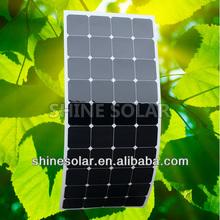 Custom designed semi flexible solar panel 120w