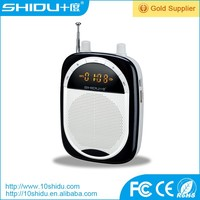portable mini loudspeaker amplifier with headset microphone 2200mAh battery Support TF Card USB FM record reverb adjust