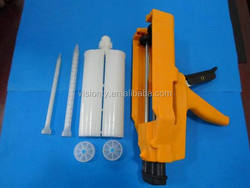 Two component adhesive caulking gun/dispensing AB glue gun/syringe sealant gun/cartridge gun