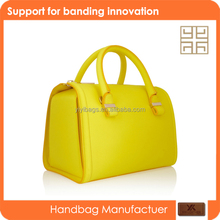2015 new design summer yellow color dazzling fashion bag