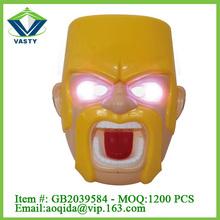 PVC mask toys wiht flash light plastic cartoon mask