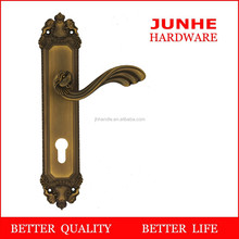 Wenzhou junhe, popular handle door apartment key lock cover in zinc