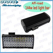 Excellent automobile 144w LED bar light four rows 2 Rows in Flood Beam Below 2 Rows in Spot Beam