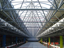 Red dragon shopping mall,Romania,super market, steel space frame roof building